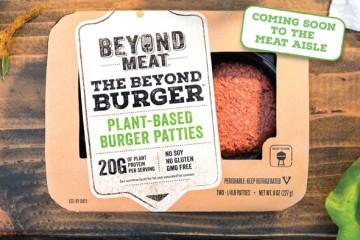 Vegansk och vegetarisk burgare från Beyond Meat. Perfekt för gröna recept.