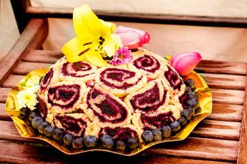 Charlotte russe, en fylld tårta till mors dag.