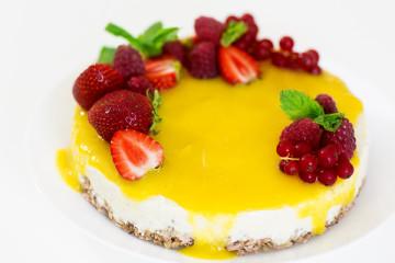 Yoghurttårta med Planti Creamy vanilla.