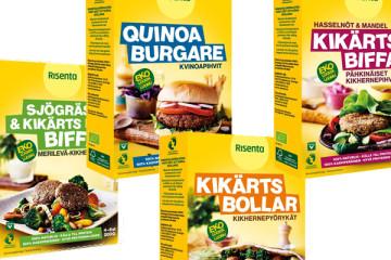 Risentas nya veganska/vegetariska produkter.
