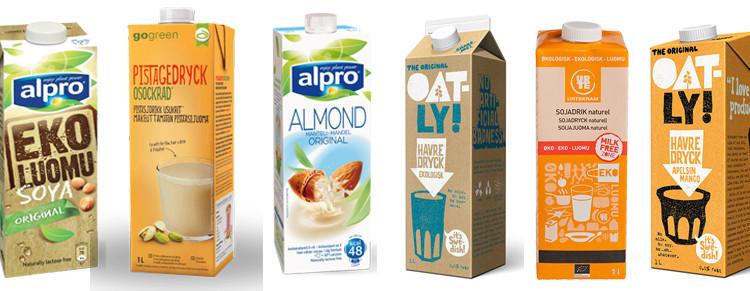 sojamjölk eller havremjölk