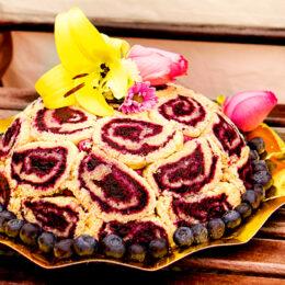 Tårtornas tårta: Charlotte russe med blåbär