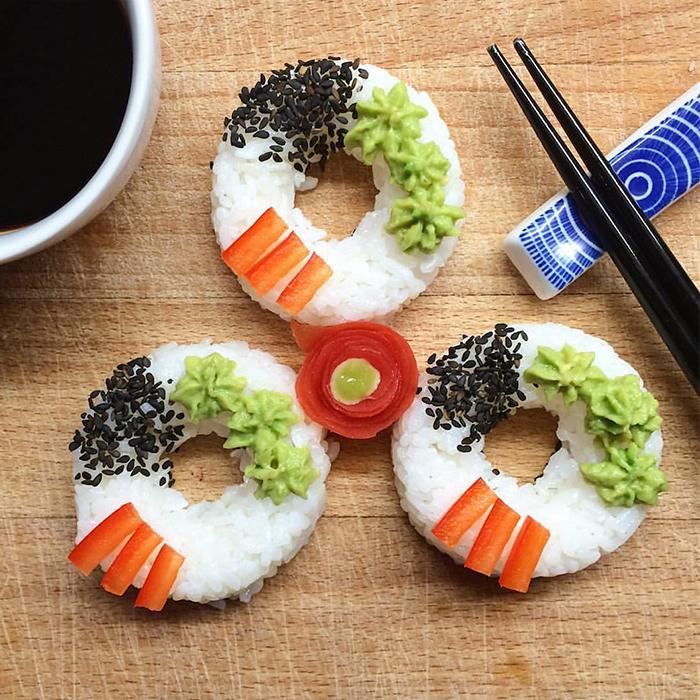 Vegansk sushi donut