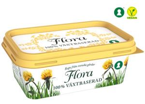 Flora växtbaserat. Ett veganskt/vegetariskt margarin.