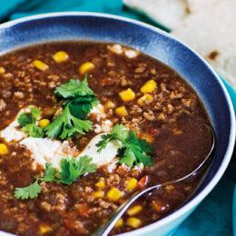 Vegetarisk Tacosoppa