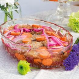 Stekt inlagd vegetarisk auberginesill