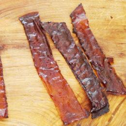 """Vegetarisk """"Bacon"""" på rispapper"""