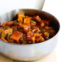 Vegetarisk BBQ-tofu