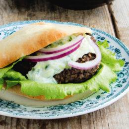 Vegetarisk Grekisk burgare