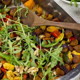 Vegetarisk Allt-i-en-panna med kryddig marinad
