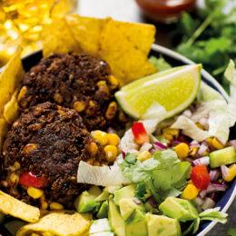 Vegetariska Tacobiffar med nachosallad
