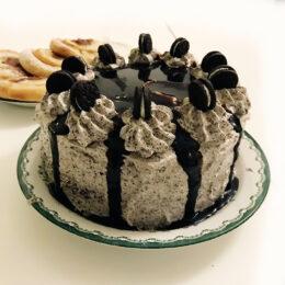 Oreotårta med choklad och banan