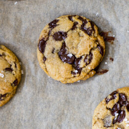 Favorit just nu: Veganska chocolate chip cookies med flingsalt