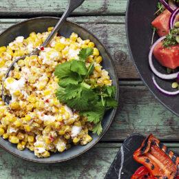 Krämig majs- och fetaostsallad