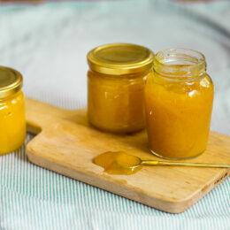 Mango, passionsfrukt och vaniljmarmelad!