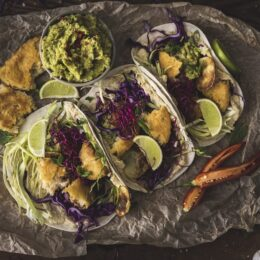 Vegansk take på Fish Tacos med Quorn
