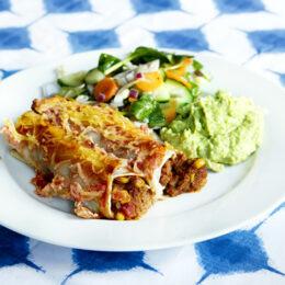 Enkla vegetariska enchiladas
