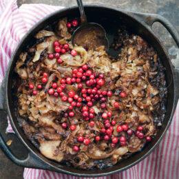 Vegetarisk Kålpudding med linser och rotfrukter