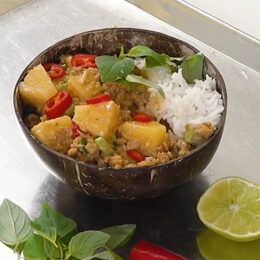5-minuters vegetarisk thaigryta