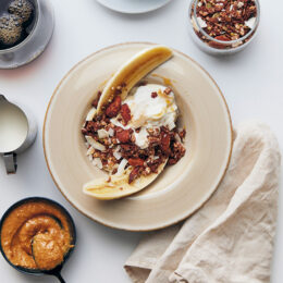 Banana split till frukost!