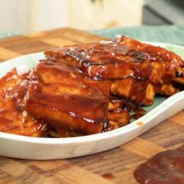 """Vegetariska """"revbensspjäll"""" på tofu"""