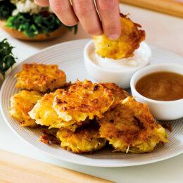 Latkes – frasiga potatispannkakor