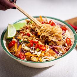 Vegetariska vietnamesiska nudlar med tofu