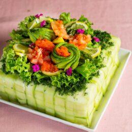 Vackraste vegetariska smörgåstårtan