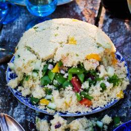 Vegetarisk couscous-bomb