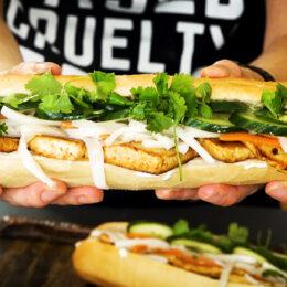 Vegetarisk banh mi-baguette