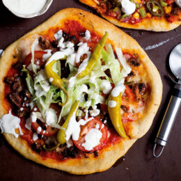 Vegetarisk kebabpizza