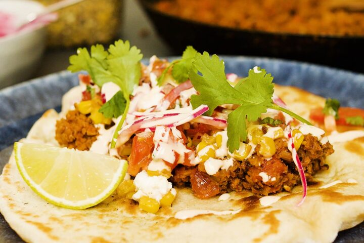 Taco med twist och på svenskodlad färs