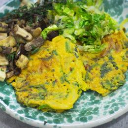 Kikärtspannkakor med grönsaker