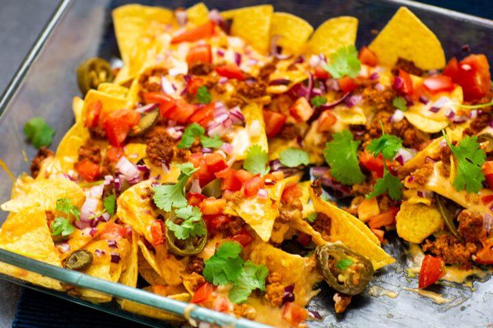 Vegetariska loaded nachos